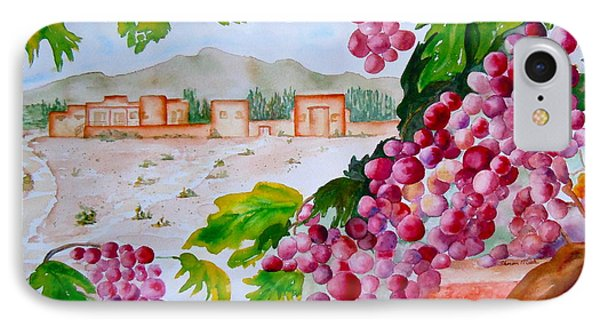 IPhone Case featuring the painting La Casa Del Vino by Sharon Mick