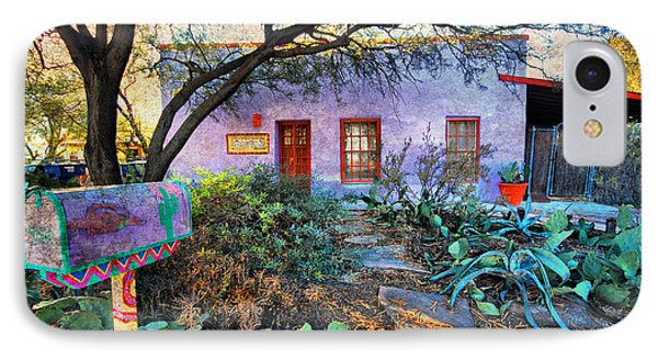 IPhone Case featuring the photograph La Casa Lila by Barbara Manis