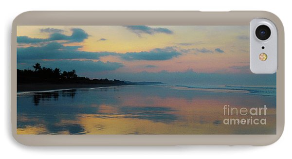 la Casita Playa Hermosa Puntarenas - Sunrise One - Painted Beach Costa Rica Panorama IPhone Case