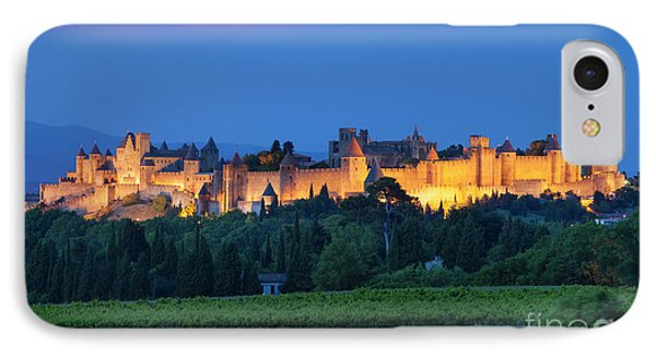 La Cite Carcassonne Phone Case by Brian Jannsen