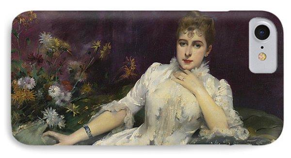 La Dame Avec Les Fleurs IPhone Case