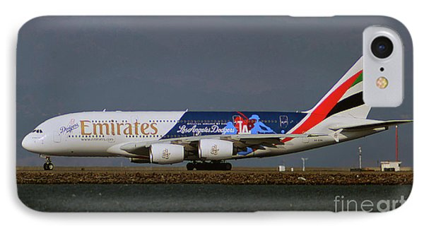 La Dodgers A380 Ready For Take-off At Sfo IPhone Case