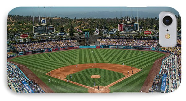 IPhone Case featuring the photograph La Dodgers Los Angeles California Baseball by David Haskett