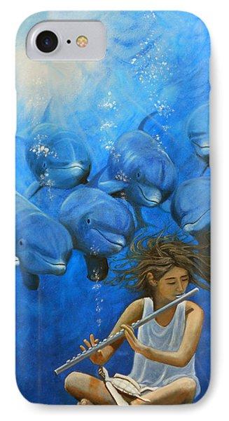 La Flautista Phone Case by Angel Ortiz