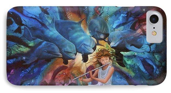 la flautista III IPhone Case by Angel Ortiz