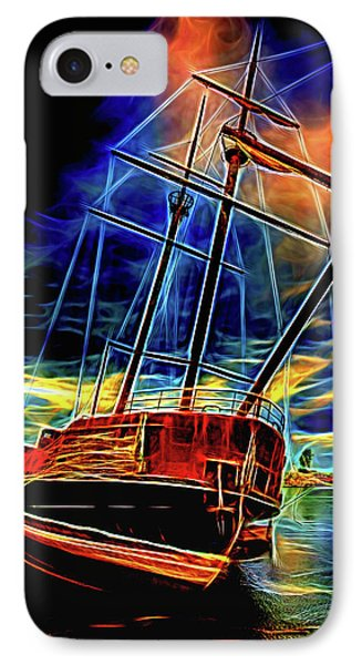 La Grande Hermine 2 - St. Elmo's Fire IPhone Case by Steve Harrington