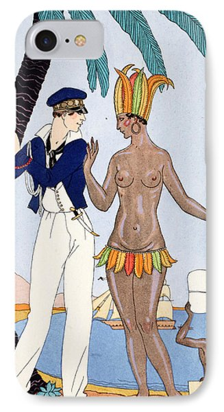 Parakeet iPhone 7 Case - La Jolie Insulaire by Georges Barbier