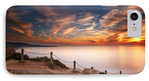 Reef Shark iPhone 7 Case - La Jolla Sunset by Larry Marshall