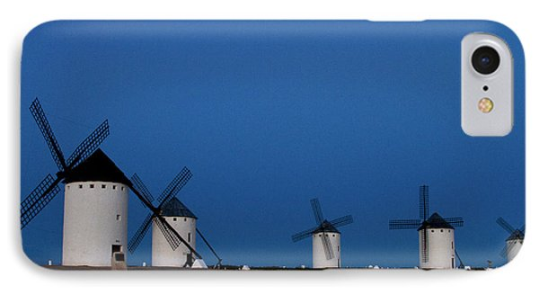 IPhone Case featuring the photograph La Mancha Windmills by Heiko Koehrer-Wagner