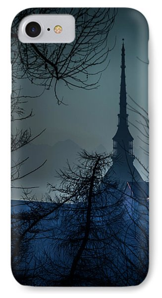 La Mole Antonelliana-blu IPhone Case by Sonny Marcyan