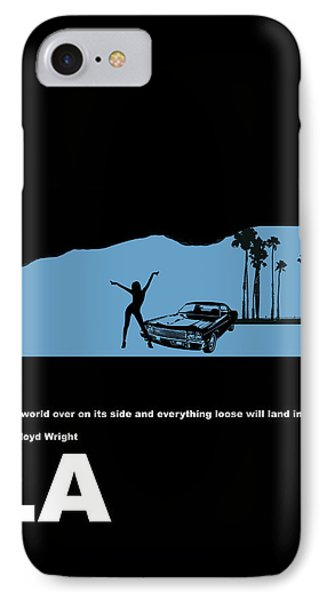 Car iPhone 7 Case - La Night Poster by Naxart Studio