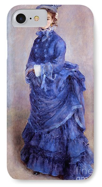 La Parisienne The Blue Lady  IPhone Case by Pierre Auguste Renoir