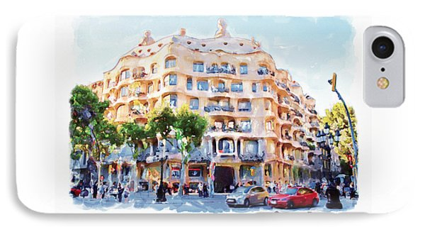 La Pedrera Barcelona IPhone Case by Marian Voicu
