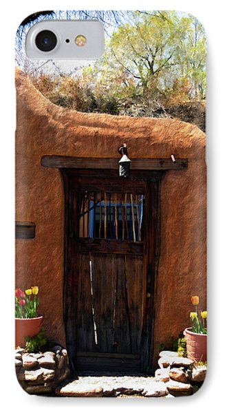 La Puerta Marron Vieja - The Old Brown Door Phone Case by Kurt Van Wagner