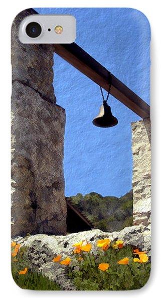La Purisima Mission Bell Tower Phone Case by Kurt Van Wagner