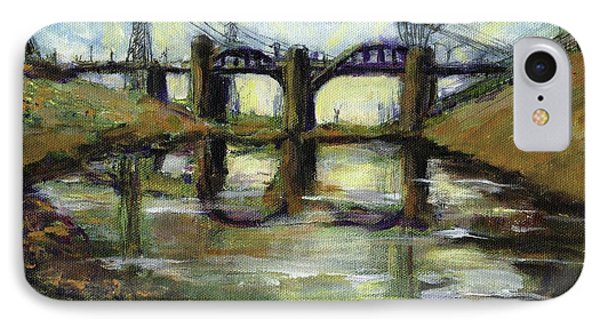 La River 6th Street Bidge IPhone Case by Randy Sprout