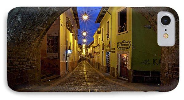 La Ronda Calle In Old Town Quito, Ecuador IPhone Case