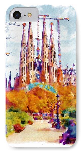La Sagrada Familia - Park View IPhone Case by Marian Voicu