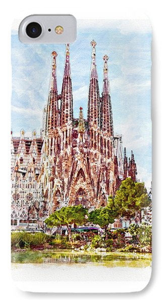 La Sagrada Familia IPhone Case by Marian Voicu
