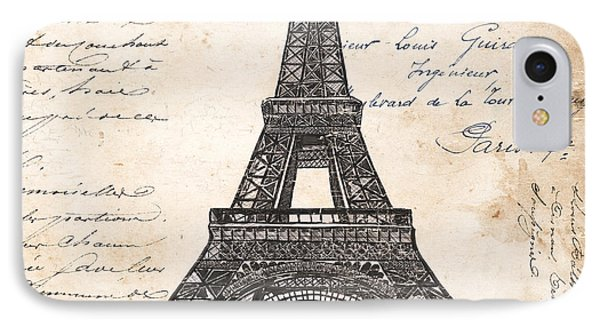 Paris iPhone 7 Case - La Tour Eiffel by Debbie DeWitt