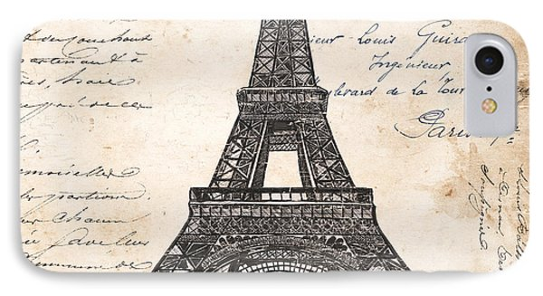 La Tour Eiffel IPhone 7 Case by Debbie DeWitt