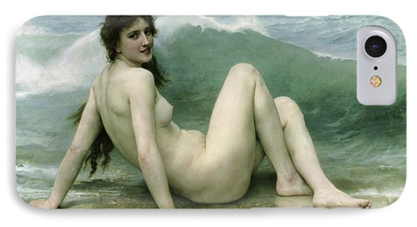 La Vague Phone Case by William Adolphe Bouguereau