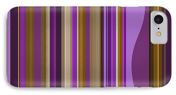 Large Purple Abstract - Two IPhone Case by Val Arie