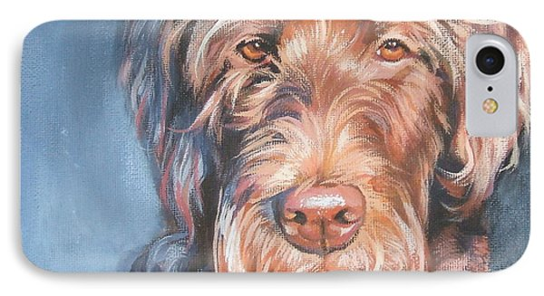 Labradoodle IPhone Case by Lee Ann Shepard