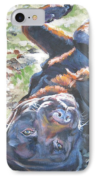Labrador Retriever Chocolate Fun Phone Case by Lee Ann Shepard
