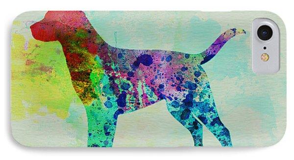 Labrador Retriever Watercolor IPhone Case by Naxart Studio