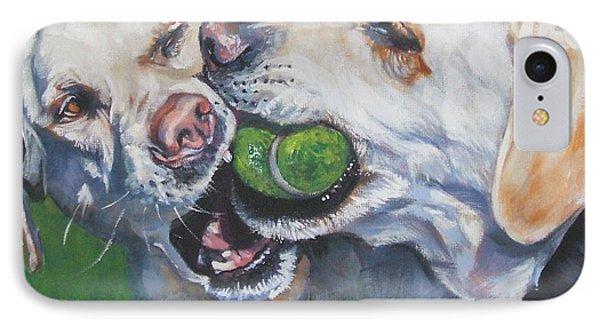Labrador Retriever Yellow Buddies Phone Case by Lee Ann Shepard