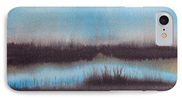 IPhone Case featuring the painting Lac Au Soir by Marc Philippe Joly