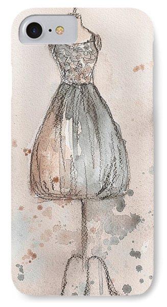 Lace Champagne Dress Phone Case by Lauren Maurer