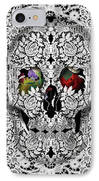 Lace Skull White IPhone Case