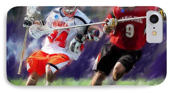 Lacrosse Close D IPhone Case by Scott Melby