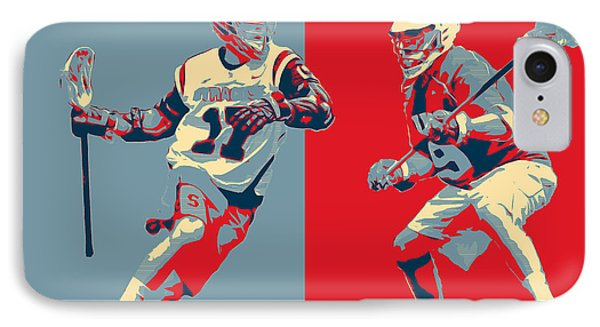 Lacrosse Pop Art IPhone Case by Scott Melby