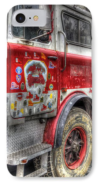 Ladder Truck 152 - In Remembrance Of 9-11 Phone Case by Eddie Yerkish