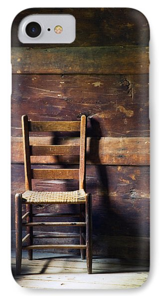 Ladderback Chair In Empty Room IPhone Case by Panoramic Images