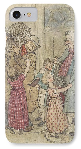 Laden With Toys And Presents IPhone Case by Arthur Rackham