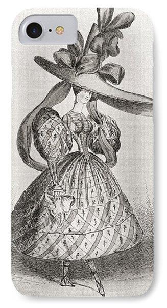 Ladies Fashion In 1828, Wasp Waist IPhone Case