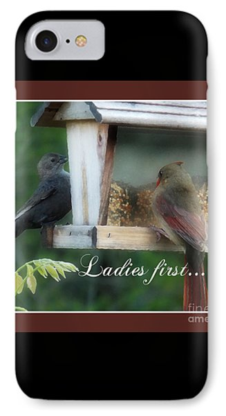 Ladies First IPhone Case by Anita Faye