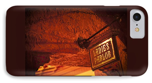 IPhone Case featuring the photograph Ladies Parlor Sign by Carolyn Marshall