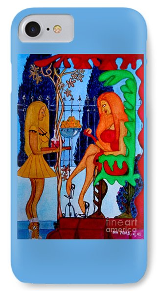 IPhone Case featuring the painting Lady And Her Maid by Don Pedro De Gracia