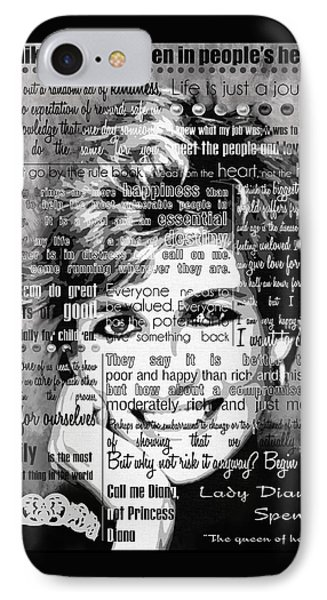 Lady Di Motivational Inspirational Independent Quotes IPhone Case by Diana Van