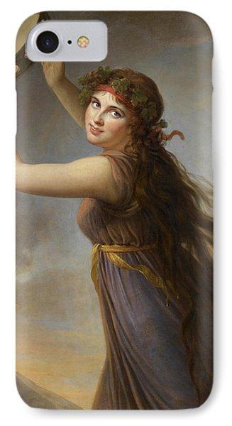 Lady Hamilton, As A Bacchante IPhone Case by Elisabeth Louise Vigee-Lebrun