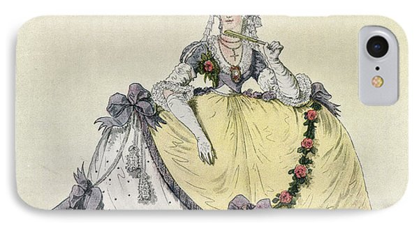 Lady In A Ball Gown At The English IPhone Case