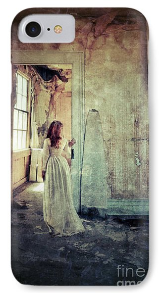 Lady In An Old Abandoned House IPhone Case by Jill Battaglia