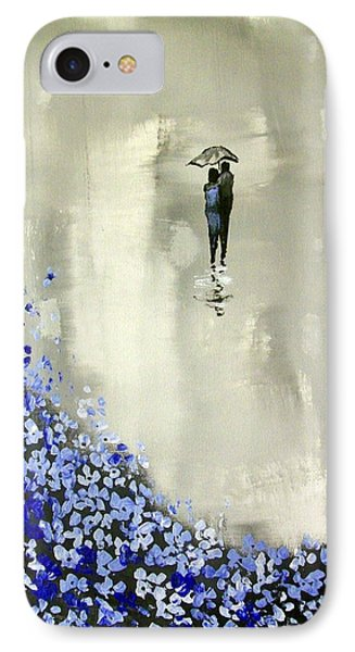 Lady In Blue IPhone Case by Raymond Doward