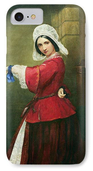Lady In French Costume Phone Case by Edmund Harris Harden