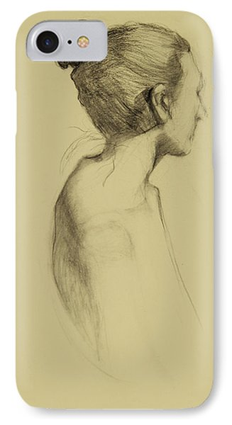 Lady In Profile Phone Case by Susan Fowler